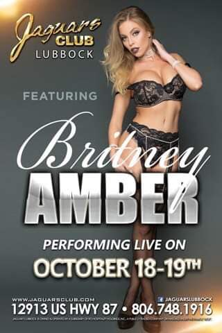 Britney Amber Headlines Jaguars Lubbock October 18th & 19th