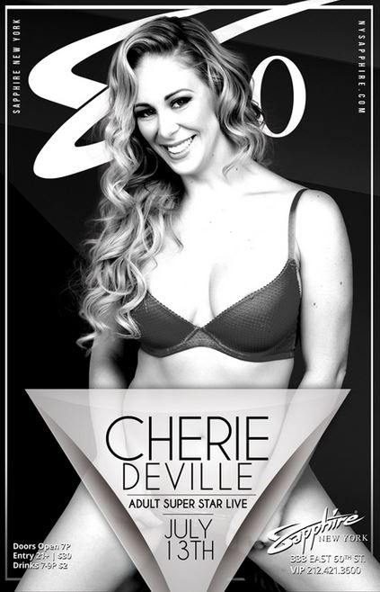 Cherie DeVille Dancing At Sapphire 60 in NY Saturday