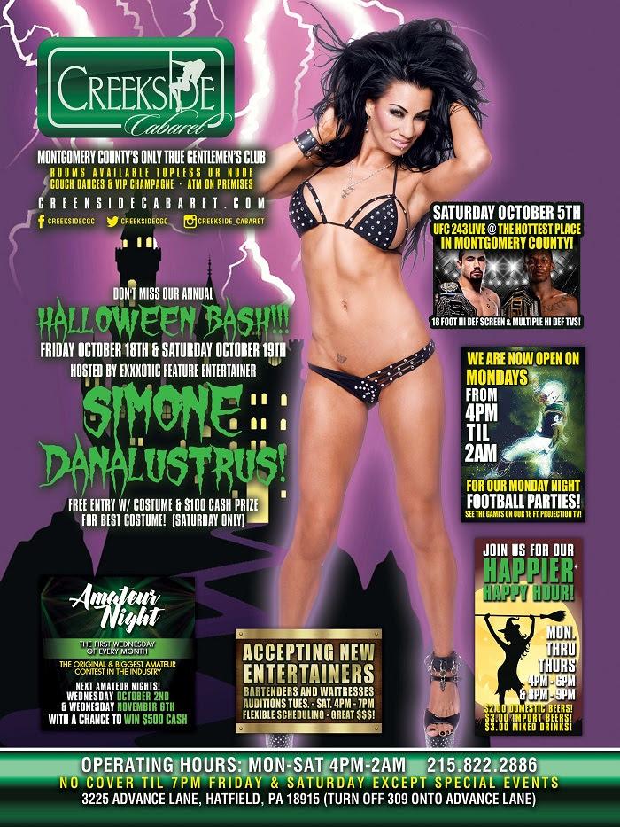 Simone DanaLustrous Performs Live & Headlines at Creekside Cabaret Gentlemen's Club