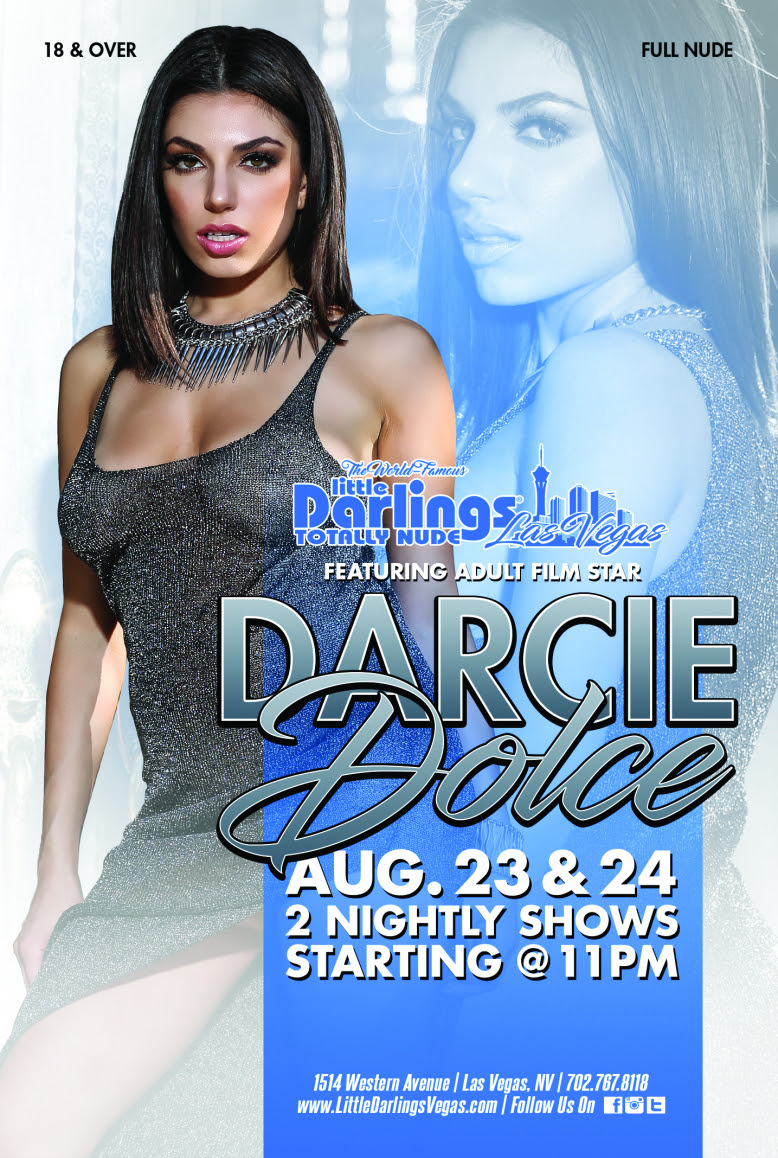 Darcie Dolce Featuring at Little Darlings in Las Vegas This Weekend