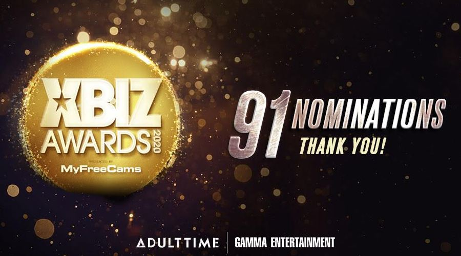 Gamma Entertainment Honored with 91 XBIZ Awards Nominations