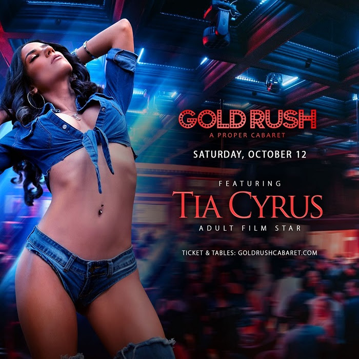 Tia Cyrus Performs Live & Headlines at Gold Rush Cabaret