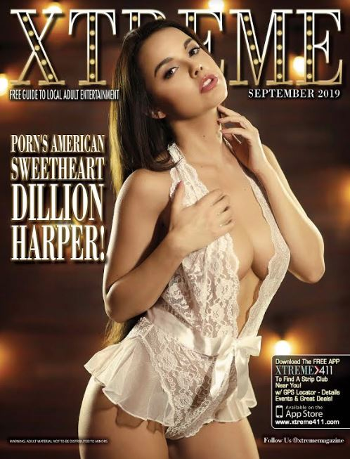 Dillion Harper Graces the Cover of September Xtreme Magazine