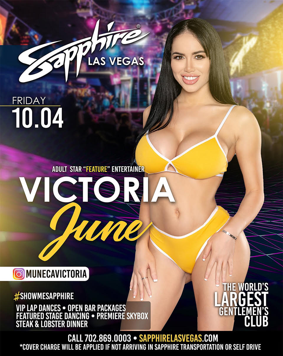 The Lee Network Presents Victoria June at Sapphire Las Vegas, Friday Oct. 4