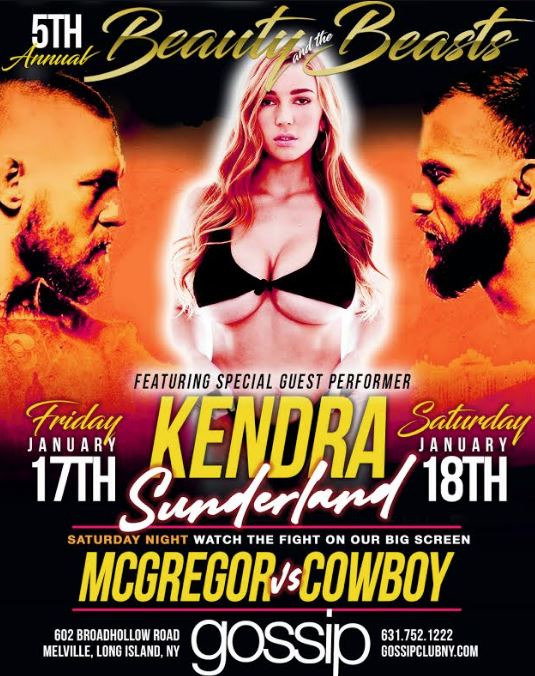 Kendra Sunderland to Appear at Gossip in Long Island's 5th Annual Beauty & the Beasts Party