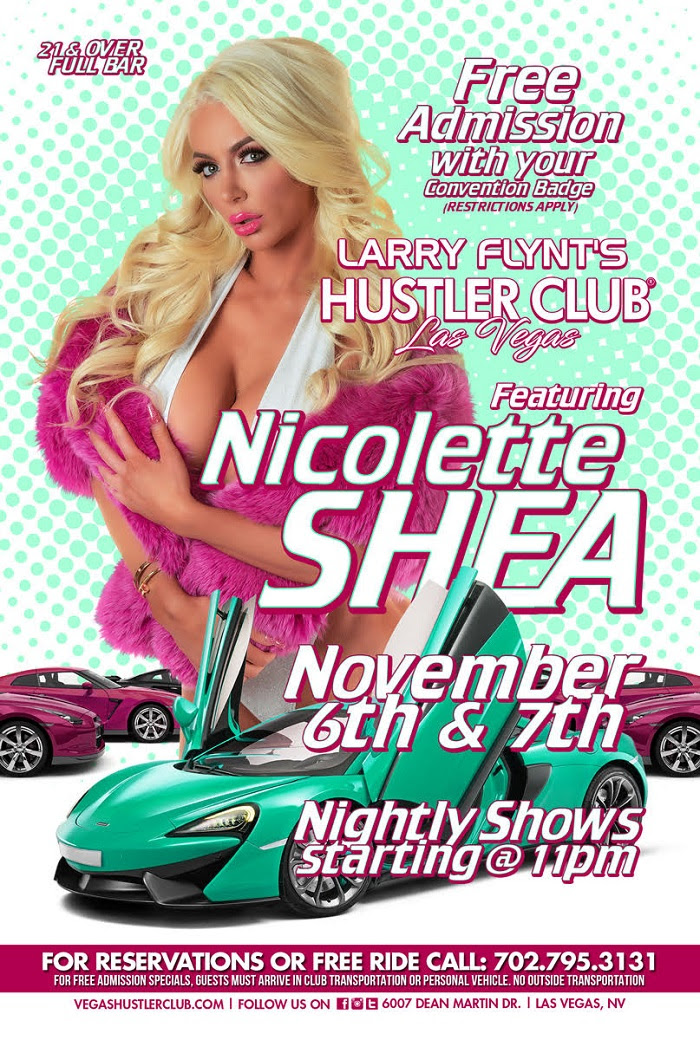 Nicolette Shea Performs Live & Headlines at Larry Flynt's Hustler Club