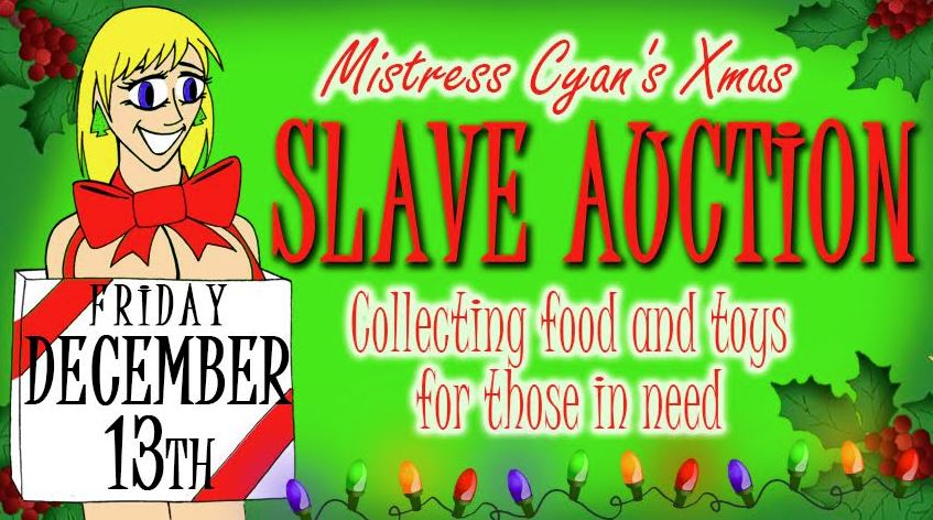 Get Ready for Mistress Cyan's Holiday Toy and Food Drive Party