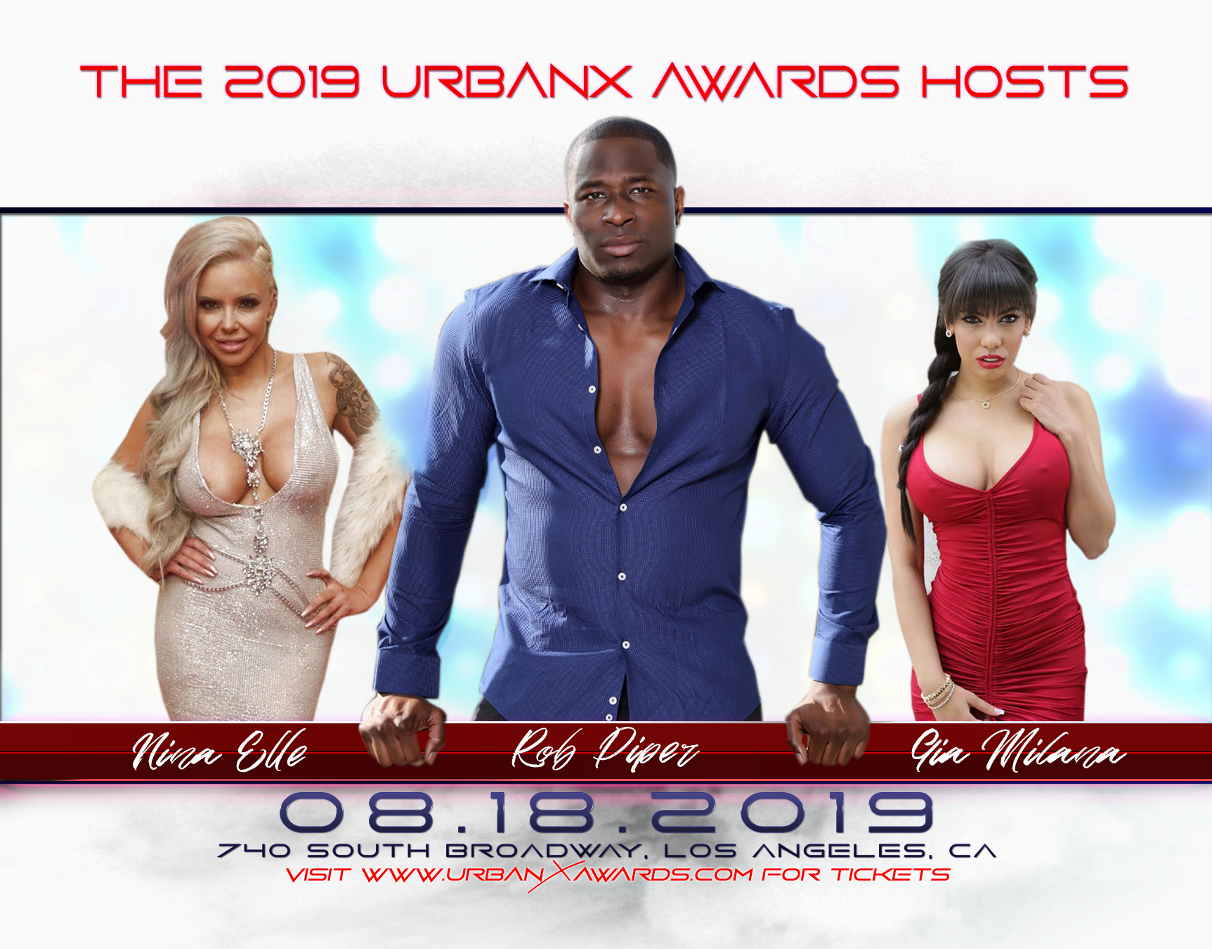 Urban X Awards Announces Weekend Events, onstage talent performing, and Tickets on Sale
